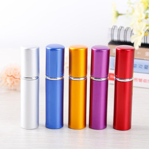 5ml Perfume Bottle Aluminium Anodized Compact Perfume Atomizer Fragrance Scent-bottle Travel Refillable Makeup Spray Bottle db423