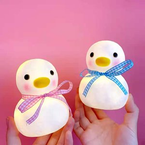 Life Pavilion Ins bedroom lovely duck small night light room girl led bedside lamp decoration dormitory new creative gift