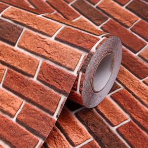Retro Brick Wallpaper Adesivo De Parede Stone Wall Stickers Waterproof Kitchen Bathroom Vinilos Decorativos Para Paredes Sticker