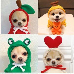 Super mignon vêtements pour animaux de compagnie pour Transformé à capuche Fruit Vêtements pour chien Chihuahua chiot chat tasse de thé d'oreille T-shirt à capuche Poméranie