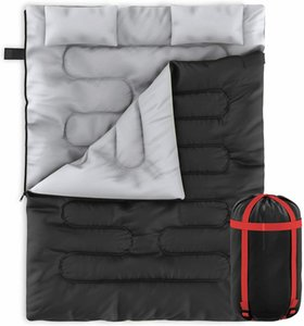 Zone Tech 2 In 1 Travel Camp Sleeping Bag Queen Size Sleeping Bag With 2 Pillows