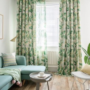 Медленная душа серый синий зеленый лес короля занавес качества современные тканевые тюль занавес для гостиной покидает пастырская спальня