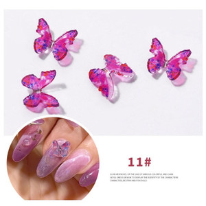 2pcs Nail Art 3d Metal Glitter Butterfly Decoration Three Nsional Butterfly Golden Alloy Jewelry Nail Accessories Nail Decor sqcrkT