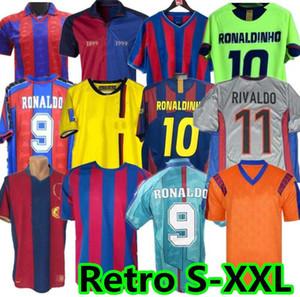 96 97 Jersey rétro Figo 1899 1999 Xavi Ronaldinho Ronaldo 08 09 07 Rivaldo Guardiol A Iniesta Pique Xani Henry Stoiperkov Henry