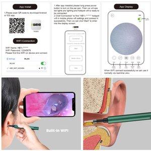3.0mm WIFI sem fio WiFi Ear Selecionar Câmera Otoscope Borescópio Luminosa Cera De Cera De Limpeza Dentes de Limpeza de Inspeção Oral Inspeção de Saúde 3.0 / 5.0mprabi