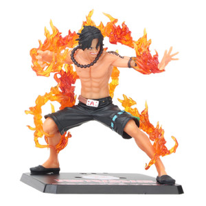 6'' 15CM One Piece ZERO Portgas D Ace Battle Ver. Fleam PVC Action Figure Model Toys Gift For Kids 201202