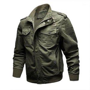 NXH Хлопок Мужские Куртки Стенд Армейская Куртка M-6XL Большой Размер Мужчины Мужские Пальто Полет Куртка Жесткий Парень Носить 99311