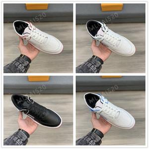 2021 Rivoli Mann Low Sneakers Calfskin Classic Desingers Montaigne Floral Deko Trainer Niedrige Freizeitschuhe Größe # 38-44