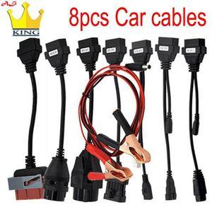 Câbles de diagnostic de voitures OBD OBD2 Full Set 8 Câbles de voiture de voiture pour Delphis VD DS150E CD-P W-O-W Camions CABD II Scanner Cable1