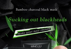 Nettoyeur de pores anti-âge Bamboo Charcoal Noir Face Noir Soins de la peau Mascarilla Blackhead Débranchissement Masques de nez Minéraux Mousquets de nez