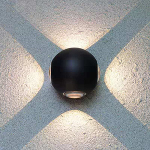 Lampada da parete a LED in alluminio rotondo all'aperto impermeabile IP65 Giardino Portico Portico Balcone Luci Esterteriori Apparecchiatura da parete Apparecchio esterna B002-1
