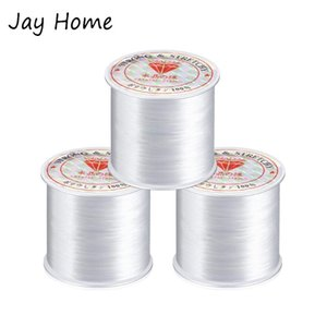 1 2Rolls 0.2-0.8mm Nylon Thread Inelastic Wire Bracelet Jewelry Cord String Beading Sewing Thread DIY Embroidery Sewing Tools