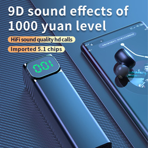 2020 New Wireless Bluetooth Earphones TWS Earbuds With Power Display 9D Deep Bass Headphones Drop Shipping