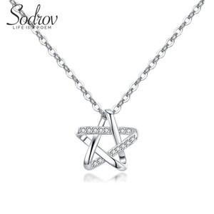 Sodrov S925 Lucky Star Collana 925 Sterling Silver Sterling Femmina Clavicle Intellectual Belle gioielli per le donne