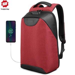 Tigernu Women Anti Theft TSA Lock female Laptop Backpack USB Charge School Bag for Teenager girls Feminine Backpacks luggage Bag 201119