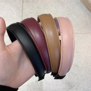 YVW7Z Корейский дондамен для взрослых темперамент кожаный универсальный простой PU кожаный головной штырь корейских аксессуаров Группа волос