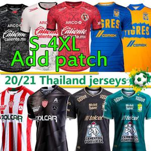 Liga MX 2020 2021 Jerseys de football Camisetas Hombrots Chándal de Fútbol Club Leon FC Tigres Uanl Necaxa Tijuana Hommes Kits Football Chemises 4XL