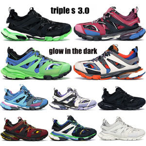 Best Quality Triple S 3.0 Piattaforma Platform Paris Sneakers Nero Bianco Corridore Blu Glow In The Dark Trainer Lime Uomo Donne Scarpe da corsa