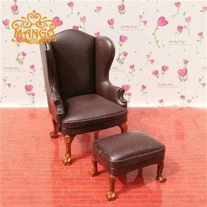 Multi colore! 1: 12 Dollhouse Dollhouse Miniature Sofà in pelle con pedale delicato Y200428