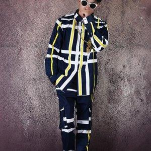 M-6XL !! Camisa listrada macacão macacão terno Big Name Imprimir camisa Hipster Hairstylist Shirt.1
