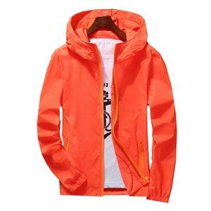 Summer Hooded Sun UV Protection Jacket Unisex Plus Size Skin Women Coat Fishing Sports Quick Dry Jackets Clothing Windbreaker