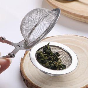 Tee Infuser 304 Edelstahl Kugel Mesh Teesieb Kaffee Kraut Gewürzfilter Diffusor Griff Tee Kugeloberteil Qualität OWF3213