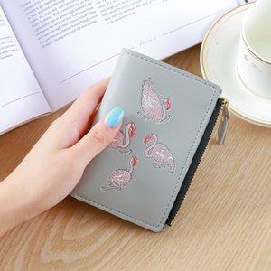 Hot Sale 2017 new Korean wallet women's short retro European and American style buckle zipper women's purse zero purse female card bag