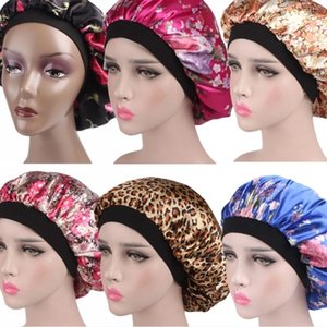 Hair Satin Bonnet Hair Styling Cap For Sleeping Shower Cap Silk Women Night Sleep Head Cover Wide Elastic Band Hair Styling