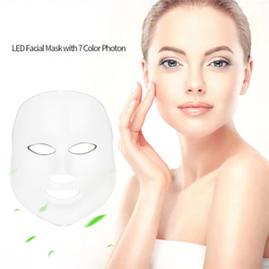 7 Color LED Photon Facial Mask Light PDT Photon Face Skin Rejuvenation Anti Aging Acne Wrinkle Removal Therapy Beauty Instrument