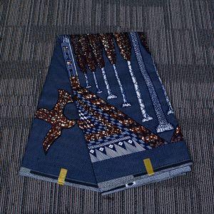 6 ярдов / серия Анкара Полиэстера Farbic Пейзаж Pattern Meterial для Handwrok Швейной африканской ткани для мужчин Одежды