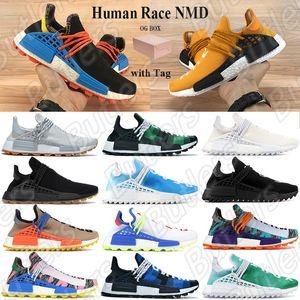 Race humaine NMD Hu piste pharrell williams hommes chaussures de course Nerd noir crème Orange rouge formateur mens designer femmes designer sport baskets