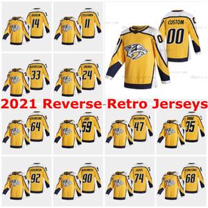 2021 Nashville Predators Restrou Jerseys Calle Jarnkrok Ryan Johansen Miikka Salomaki Colton Sissons Craig Smith Customed Statched