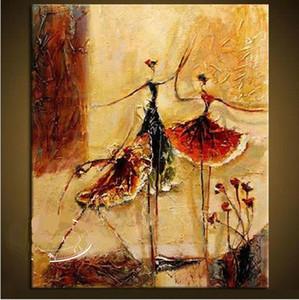 А.2 Балетные танцоры, подлинные ручные стихии современные настенные декорные фигуры абстрактное искусство живопись маслом на качеству холст многосных размеров Доступны синус 1556