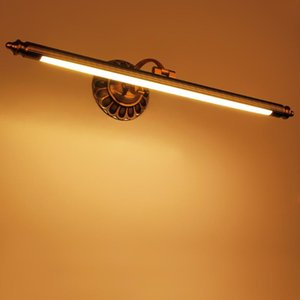 zerouno  copper led wall light real copper material mounted wall lamp 50cm 70cm 90cm 12w bathroom mirror sconces fixtures
