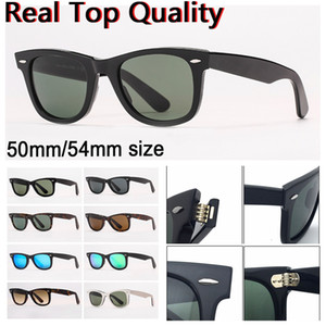 Diseñador Gafas de sol Mujer gafas de sol para hombre Gafas de sol Real Protección UV Protección Lentes de vidrio con estuche de cuero, paño limpio Todo el paquete de venta al por menor!