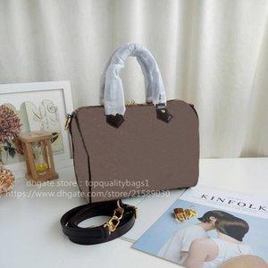 VENDIDO Genuino Hombro 25 cm Classic Quality Bag SHIPIN DE CUERO GRATIS ARAA LUXURYS SPEEDY TOP 2021 Diseñadores de bolsos de moda Rorus
