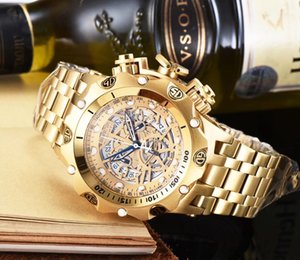Luxury Mens Watch 3A Quality 2.05-inch big Dial Reserve Multifunctional quartz watch, hollow luminous Dial water Resistant Watch