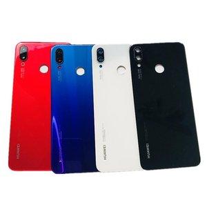 Huawei original P inteligente hacia atrás la cubierta de cristal de la cámara de cristal Huawei Nova 3i posterior de la batería de repuesto puerta de la cubierta de cinta 3M de piezas de repuesto