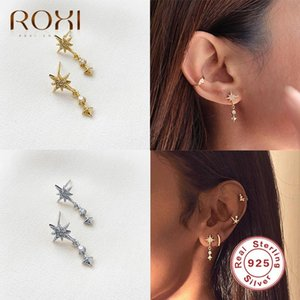 ROXI Sparkling Polaris Zircon Crystals Stud Earrings for Women Wedding Earrings Piercing Star 925 Sterling Silver Jewelry Gift