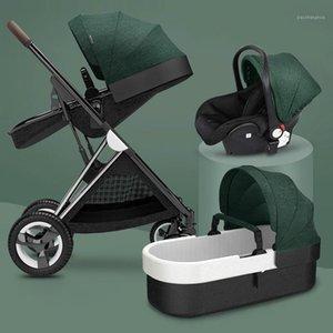 Cajón de algodón de lujo Carrups High LandView 3 en 1 Cochecito de bebé Cochecito portátil Confort PRAM para recién nacido1