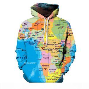 2019 NEW Map Sweatshirts Unisex Hoodie 3D Print Pullover Harajuku Mens Hoodies Streetwear Coat Spring Cloth 6XL Size