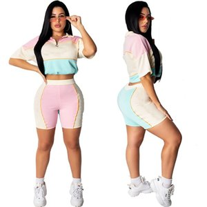 Champions women 2 piece set brand summer clothes fitness pullover pants sports suit t-shirt leggings sports set tshirt bodysuits 0277