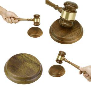 Wooden Handmade Craft Hammer Durable Wood Gavel Sound Block Court Decoration for Lawyer Judge Auction