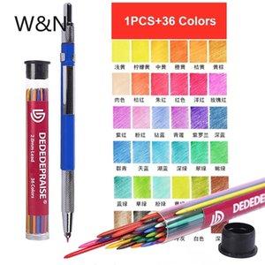 36 Цветов 2.0 мм Механические карандаши Установить написание Рисунок с 36 цветов Карандаши Refill Weads Corner Centery School Office Supply Piece 201214