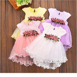 6m-3Y enfants enfants bébé vêtements vêtements été floral tulle sans manches en coton princesse garçon mariage robes de vacances pour b jllvbj