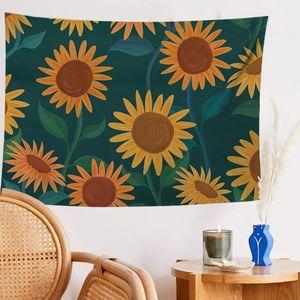 Tropical pianta Tapestry Wall Hanging Tapestry Foglie Mandala Sunflower Art Carpet Telo Yoga ARAZZO