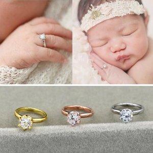 Neonato Neonati Fotografia Puntelli Faux Diamond Ring Baby Shooting Photo Prop Gioielli Accessori per foto