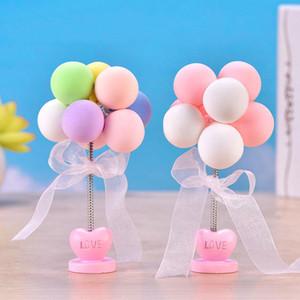 Decoración de pastel de hornear Color Balloon Resina Artesanía Decoración de coches Mini globo disparos