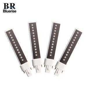 Bluerise 4 조각 365 + 405nm UV 용 램프 튜브 LED 네일 램프 교체 LED 더블 라이트 소스 전구 LED 램프 Q1123