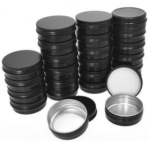 Latas recipientes redondos vela de aluminio caliente 30g TI Paquete Tornillo Lata - Muestra de viaje Cosmetic 1oz 40 Contenedor Top Tin / JLLPV